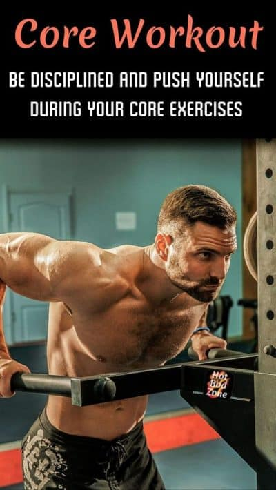 man working out doing core building exercises