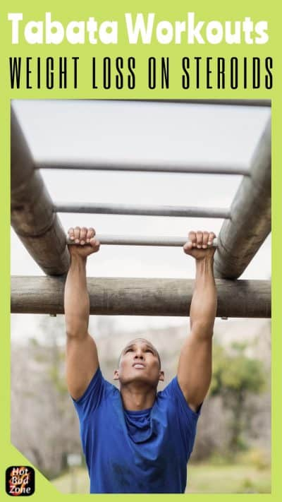 man on the rungs doing exercises