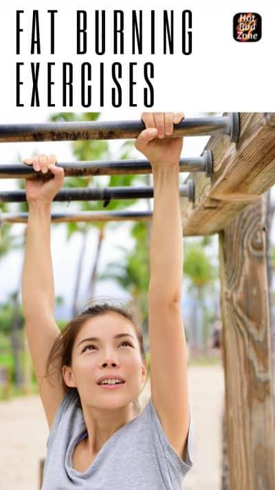 Girl on money bars exercising