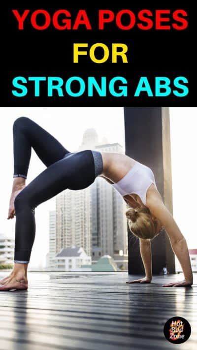 woman doing bridge yoga pose