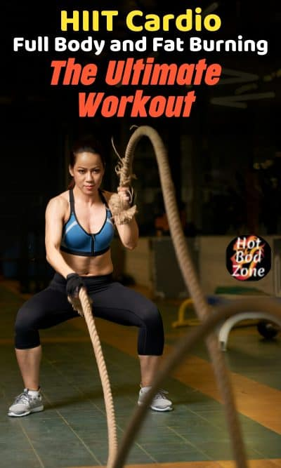 woman in the gym exercising with ropes
