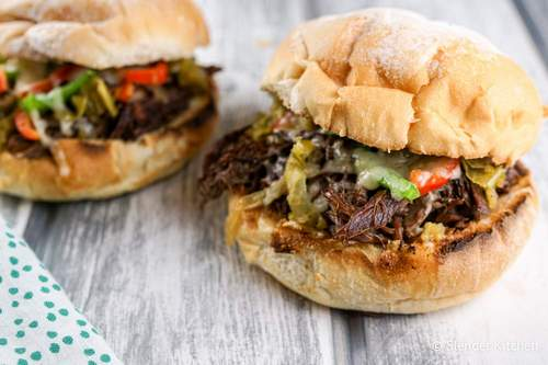 Instant Pot Beef Drip Sandwiches