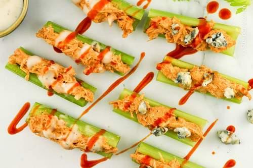 Buffalo Chicken Celery Bites - Weight Watchers Snack Recipes
