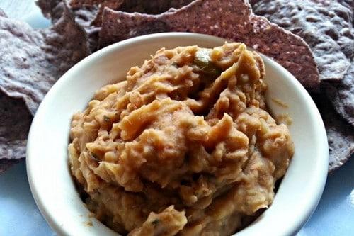 Homemade Refried Bean Dip
