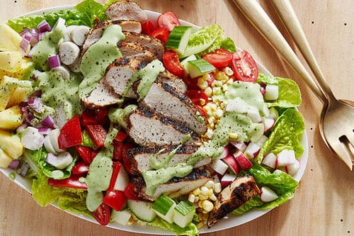 Chicken Cobb Salad with Creamy Avocado-Lime Dressing