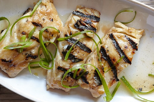 Grilled Miso-Glazed Cod - Weight Watchers Dinner Recipes