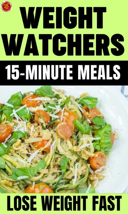 Weight Watchers 15-Minute Meals Lose Weight Fast