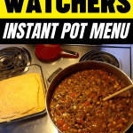 WW Instant Pot Menu - 3 Bean Chili