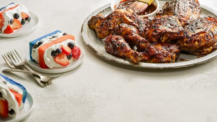 Blueberry Barbecue Grilled Chicken