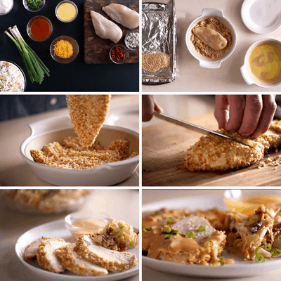 Chicken with Buffalo Cream Sauce Collage