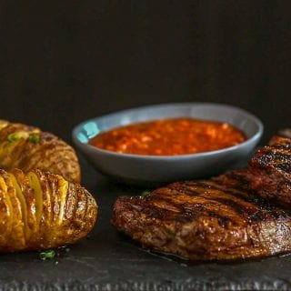 Chili Butter Steaks Recipe