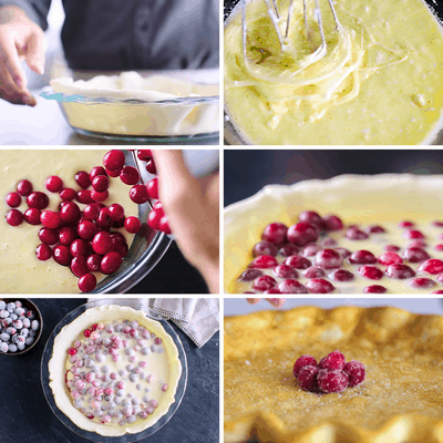 Cranberry Custard Pie Collage