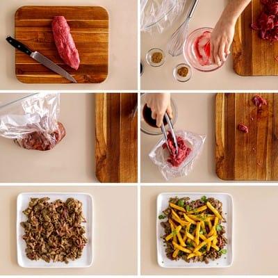 Peruvian Steak with Fries Collage