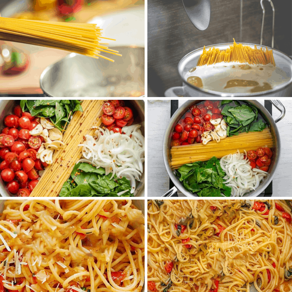 Simple On Pan Pasta Collage