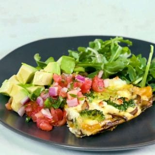 Vegatable and Goat Cheese Frittata