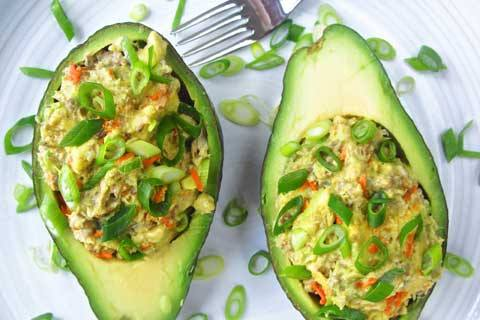 Low-Carb Sardine Stuffed Avocado