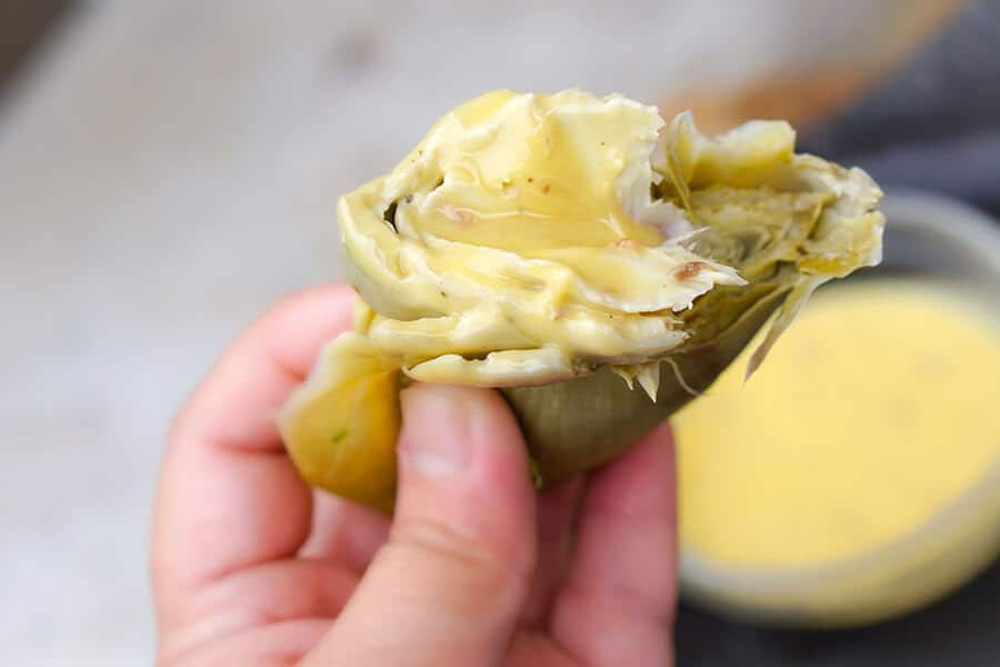 Artichokes with Keto-Friendly Anchovy Mayonnaise