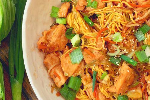 Lighter Chicken Chow Mein