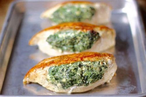 Spinach Stuffed Chicken Breasts - Keto Chicken Recipes