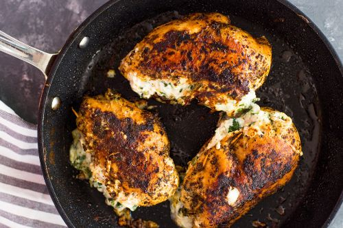 Cream Cheese Spinach Stuffed Chicken (Low-carb, Keto)