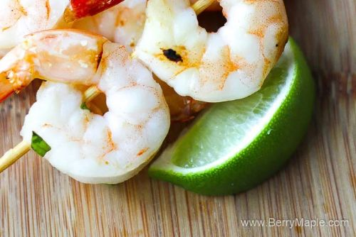12 Air Fryer garlic lime shrimp kebabs