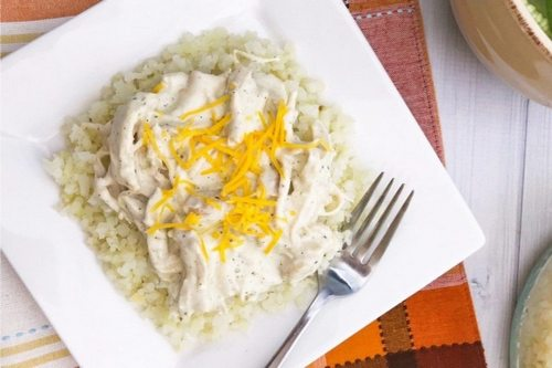 14. Keto Instant Pot Quick and Easy Cheesy Ranch Chicken