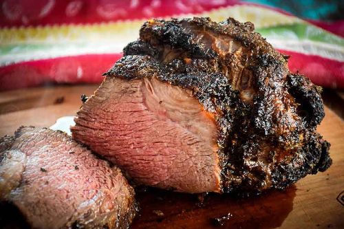 15. Air Fryer Roast Beef – with Herb Crust