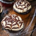 15. Healthy Low-Carb Halloween Spiderweb Cupcakes