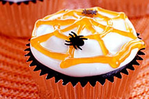 16. Weight Watchers Spider Cup Cakes