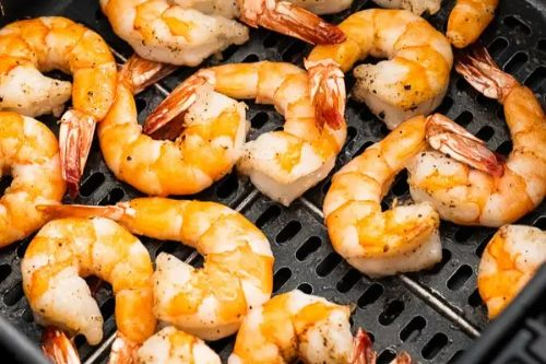 17. Air Fryer Garlic Shrimp - keto Meals Ideas