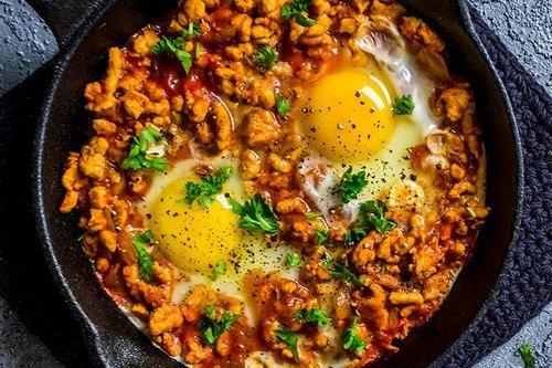 17. Keto Turkey and Egg Breakfast Skillet