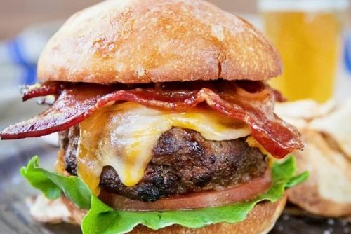 2 Bourbon Bacon Burger - Air Fryer Beef Recipes