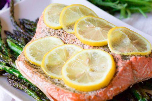2. Keto Instant Pot Lemon-Dill Salmon & Asparagus