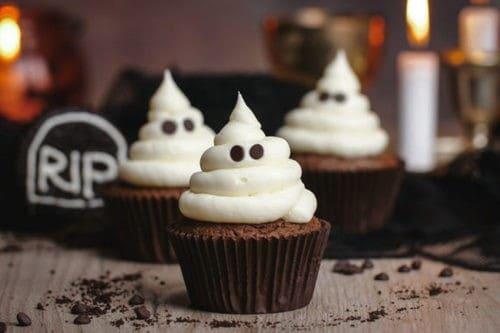4. Ghost Cupcakes - Healthy Halloween Treats