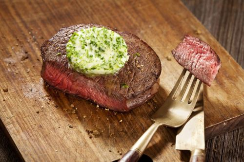 5. Keto Garlic Butter Steak Air Fried - Air Fryer Beef Recipes