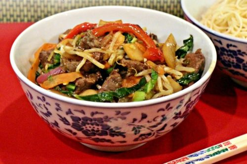 6 Beef and Vegetable Stir Fry with Actifry