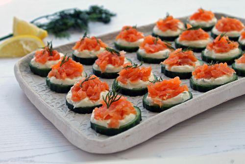 6. Keto Smoked Salmon and Cucumber Bites