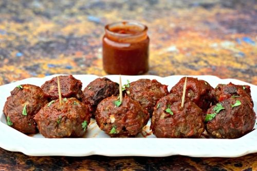 8. EZ Air Fryer BBQ Meatballs - Air Fryer Beef Recipes