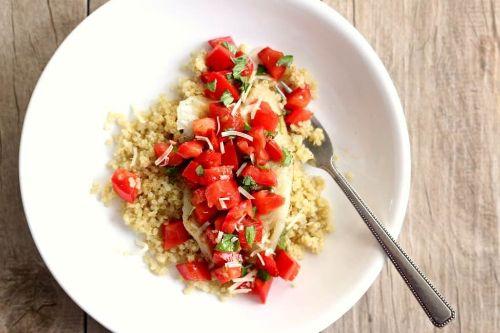 8. Instant Pot Tomato Basil Tilapia